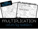 Multiplication Color By Number - 4 PAGES