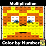 Multiplication Color By Number /  Mustache Man / Read Across America