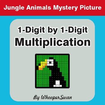Multiplication - Color-By-Number Math Mystery Picture