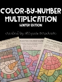 Multiplication Color-By-Number: Winter Edition