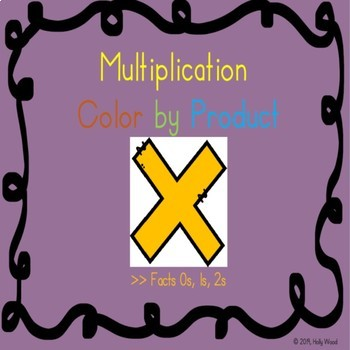 Multiplication Color By Product - Facts 0s, 1s, 2s