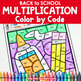 Multiplication Color by Code | {2's - 9's} {Back-to-School}