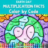 Multiplication Color by Code | {2's - 9's} {Earth Day}