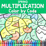 Multiplication Color by Code | {2's - 9's} {Spring}