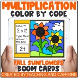 Multiplication Color by Code Boom Cards™   Fall Sunflowers