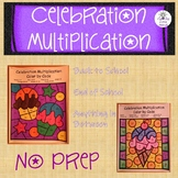 Multiplication Color by Code-Celebrations-First day of School