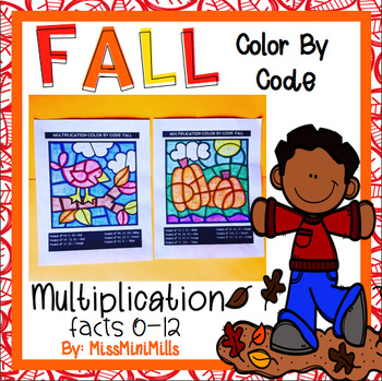 Multiplication Color by Code: Fall Theme!!