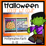 Multiplication Color by Code: Halloween