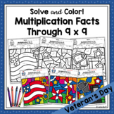 Multiplication Color by Code  for Patriotic Holidays