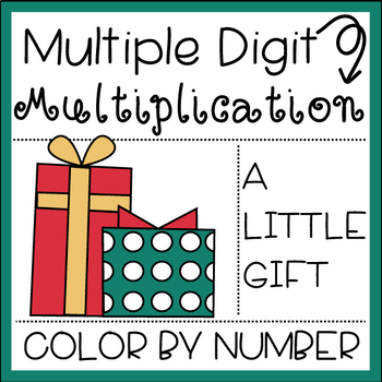 Multiplication Color by Number: A Little Gift