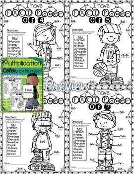 Multiplication Color by Number Bundle