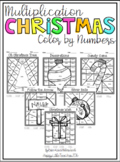 Multiplication Color by Number-Christmas Themed