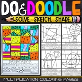 Multiplication Coloring Worksheets   Do and Doodle