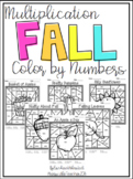 Multiplication Color by Number-Fall Themed