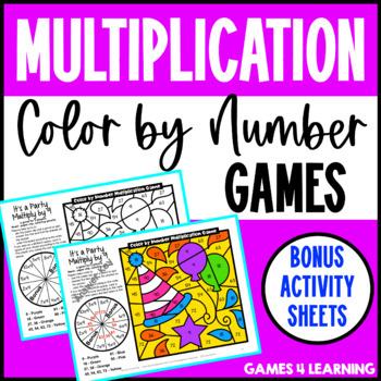 Multiplication Color by Number: Multiplication Games for Multiplication Fluency