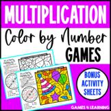 Multiplication Color by Number Games [Bonus Multiplication Coloring Worksheets]