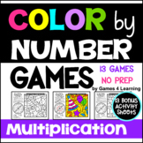Multiplication Color by Number Games: 11 Color by Number M