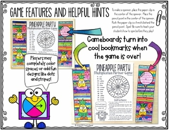 Multiplication Facts Color by Number Games