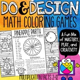 Distance Learning Multiplication Facts Color by Number Gam