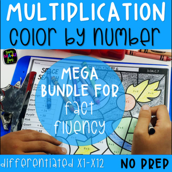 Multiplication Color By Number Teaching Resources | Teachers Pay ...