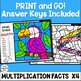 Multiplication Worksheets - Color by Number - Using 4 as a Factor