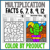 MULTIPLICATION REVIEW Color by Number Worksheets TRICKY FA
