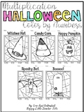 Multiplication Color by Numbers-Halloween Themed