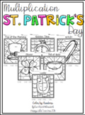 Multiplication Color by Numbers-St. Patrick's Day Themed