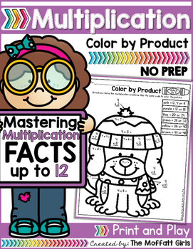 Multiplication: Color by Product