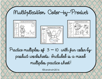 Multiplication Color-by-Product