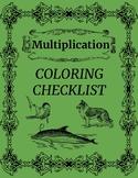 Multiplication Coloring Checklist