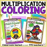 Multiplication Coloring Worksheet- 3rd Grade Math Multipli