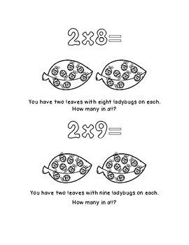 Multiplication Coloring Pages for 2, 5, 10