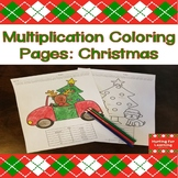 Multiplication Coloring Pages: Christmas