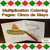 Multiplication Coloring Pages: Cinco de Mayo