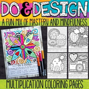 Multiplication Coloring Pages - Do and Design