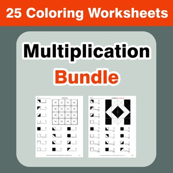 Multiplication Coloring Worksheets Bundle