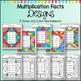 Multiplication Coloring Worksheets Designs Solve and Color Frames