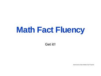 Multiplication Combination Fluency Digital Flash Cards