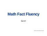 Multiplication Combination Fluency Digital Flash Cards