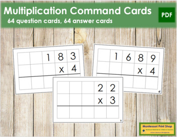 Multiplication Command Cards