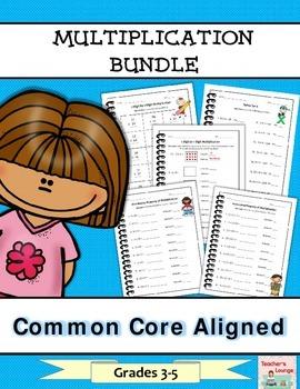 Multiplication Math Bundle - Common Core Aligned - Grades 3-5