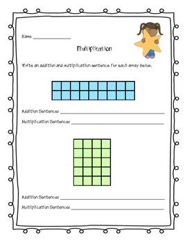 Multiplication Common Core Math Assessments