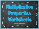 Multiplication Communative Property Worksheet