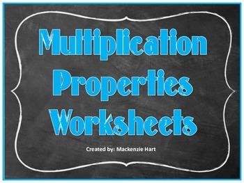 Multiplication Communative Property Worksheet
