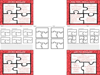 Multiplication Commutative Property for 1-6 with Visual Models