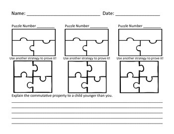 Multiplication Commutative Property for 10s with Visual Model