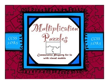 Multiplication Commutative Property for 3s with Visual Models