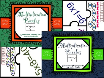 Multiplication Commutative Property for 5s and 6s with Visual Models