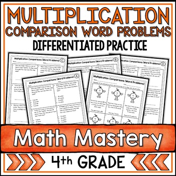 Multiplication Comparison Word Problems